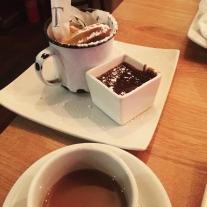 The chocolate churros